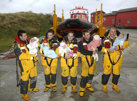Editorial image of Five Lifeboat Crew Members Who have Become Fathers in the Past 6 Months, Caister, Norfolk, Britain - 15 Jan 2008