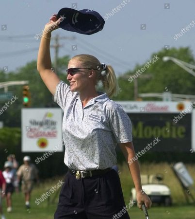 JANICE MOODIE Janice Moodie of Glasgow, Scotland waves her hat to the crowd after she won the ShopRite LPGA Classic on the Bay Course at the Seaview Marriott Resort in Galloway Township, N.J., . Moodie shot a final round 69 and finished with a 10-under par 203
