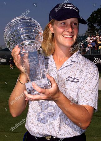 JANICE MOODIE Janice Moodie of Glasgow, Scotland, poses with the trophy after she won the ShopRite LPGA Classic on the Bay Course at the Seaview Marriott Resort in Galloway Township, N.J., . Moodie shot a final round 69 and finished with a 10-under-par 203