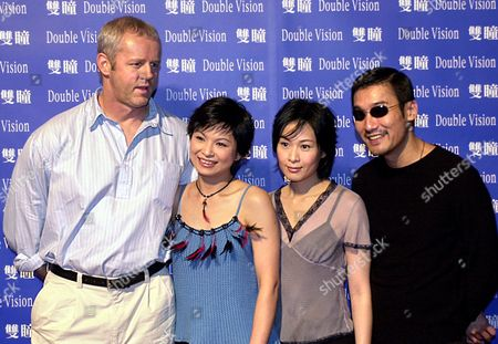 "LEUNG Promoting the film ""Double Vision,"" from left, famed American actor David Morse, Hong Kong film stars, Yang Kuei-mei, Rene Liu, and Tony Leung, pose for a photograph, in Taipei. The suspense-thriller ""Double Vision"" directed by Taiwan film maker Chen Kuo-fu, is currently being filmed in Taiwan"