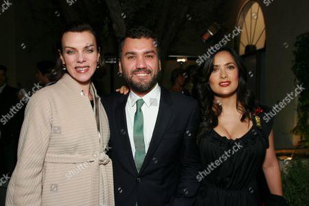 Debi Mazar, Edmundo Castillo and Salma Hayek