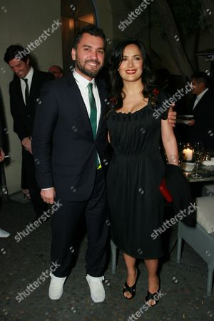 Edmundo Castillo and Salma Hayek