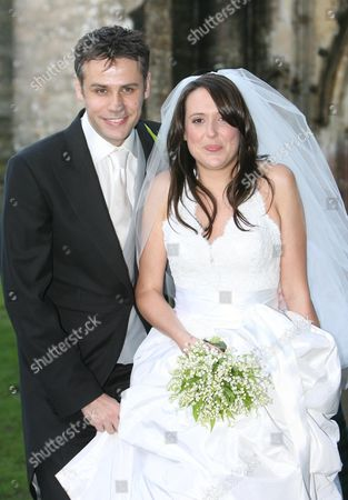 Editorial photo of Wedding of Richard Bacon and Rebecca Macfarlane, St Andrews Church, Mells, Somerset, Britain - 17 Jan 2008