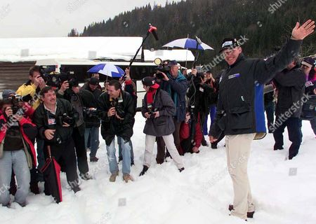 MAIER Double Olympic champion and first Austrian to win the overall World Cup title since Karl Schranz in 1970 Hermann Maier shows journalists and photopraphers the racing course in his home town Flachau in the province of Salzburg, where Hermann Maier finished his first skiing race. Flachau officially welcomed it's new skiing star on Tuesday with various festivities
