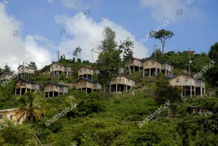 New homes for families removed from the Port Louis site. Port Louis part of the multi-million pound development by Peter de Savary in St George, Grenada