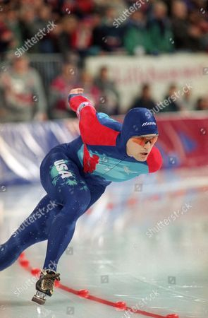 Dan Jansen Dan Jansen skates to a time of 1:12.43 for a new world record in the men's 1,000 meter race in morning on at Hamar Olympic Hall in Hamar, Norway. He captured his first gold Olympic medal in the event