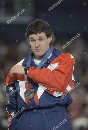 Dan Jansen American speedskater Dan Jansen of Greenfield, Wis., wipes tears from his eyes after receiving the gold medal in the men?s 1,000 meter event on at Hamar Olympic Hall in Hamar, Norway. Jansen set a world record for the event with his time of 1:12.43
