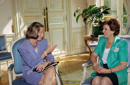 Edith Cresson, Kaci Kullmann Five French Prime Minister Edith Cresson, right, listens to Norwegian conservative party leader Kaci Kullmann Five at the Hotel Matignon in Paris, . Kaci Kullmann Five is in France to take part in the EDU conference (European Democratic Union