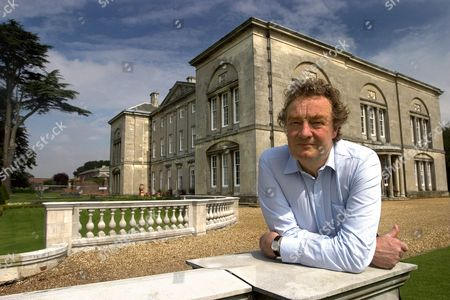 Author and photographer Christopher Simon Sykes at Sledmere House, his family's home in the East Yorkshire Wolds, Britain