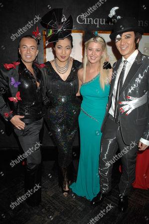 Julien Macdonald, Patti Wong, Tara Reid and Andy Wong