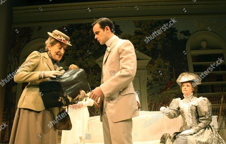 Janet Henfrey (Miss Prism), Harry Hadden-Paton (Jack) and Penelope Keith (Lady Bracknell)