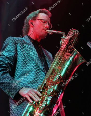 """HELLIWELL Supertramp's John Helliwell plays the saxophone during the band's concert in Paris to start their """"Some Things Never Change"""" tour. Supertramp had not performed live for 10 years"""