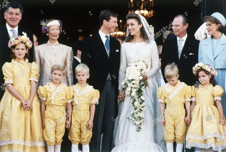 Editorial image of France Versailles Prince Guillaume of Luxembourg and Princess Sibilla Wedding, Versailles, France