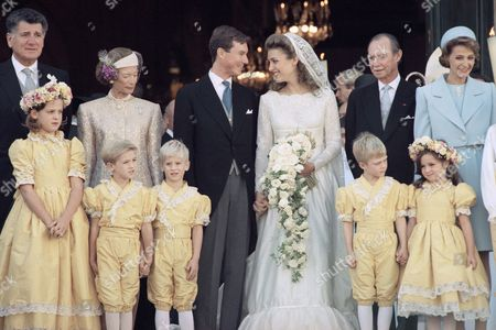 Editorial picture of France Versailles Prince Guillaume of Luxembourg and Princess Sibilla Wedding, Versailles, France