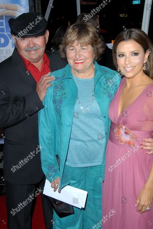 Eva Longoria Parker and Parents Ella and Enrique Longoria