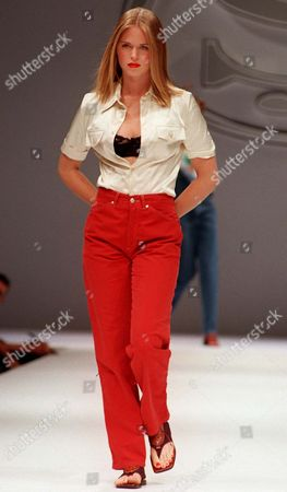 WERNER Ronaldo's girlfriend Susana Werner on parade during the Swish jeans Spring/Summer 1998 fashion show, presented in Milan