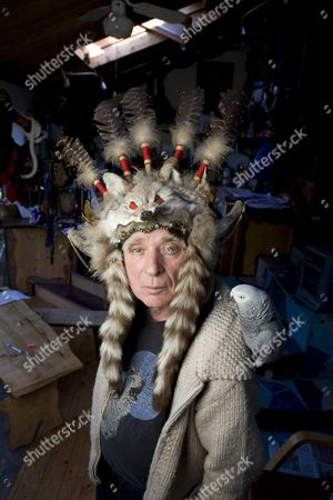 Stock Photo of Ken Campbell at his home in Loughton, Essex.