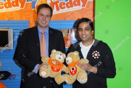 BBC's Dragon's Den's Peter Jones and Imran Hakim, creator of iTeddy