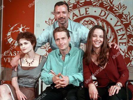 "Stock Photo of SOFTLEY From the left, actors Helena Bonham Carter, Linus Roache, Alison Elliot and director Iain Softley presenting at a press conference the film ""The Wings of th Dove"" in the British Renaissance section, at the 54 Venice Film Festival"