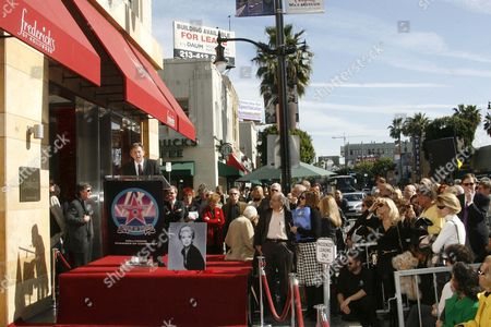 Star situated outside Fredricks of Hollywood