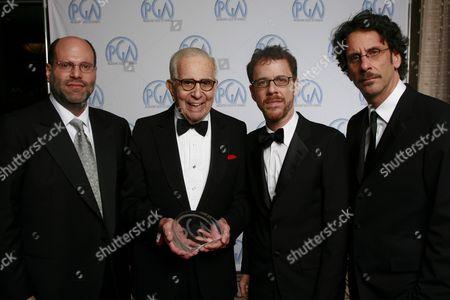 Scott Rudin, Walter Mirisch, Ethan Coen and Joel Coen