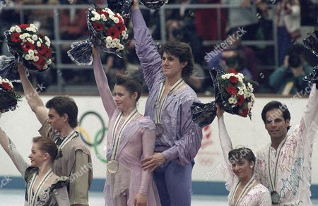 Editorial image of Olympic Pairs Skating 1992, Albertville, France