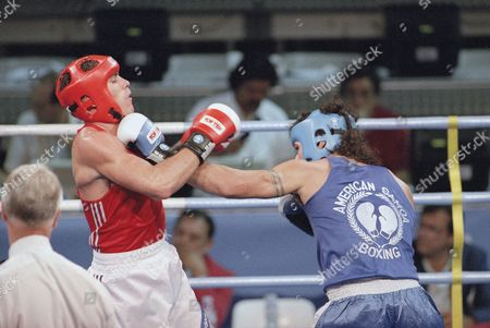 Stephen Wilson, Mikaele Masoe Britain's Stephen Wilson, left, fights Mikaele Masoe of American Samoa in the 75kg boxing competition at the Summer Olympics, Barcelona, Spain. Wilson won the bout 12-8