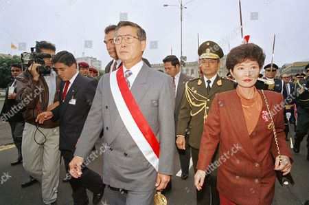 Alberto Fujimori Peruvian President Alberto Fujimori, left, and First Lady Susana Higuchi?s last public appearance together at Independence Day celebration, . First lady Susana Higuchi has moved out of the Presidential Palace during a dispute with her husband and Congress over a new law, dubbed the ?Susana law? that prohibits the President?s close family members from running for president, Vice President or Congress. The ban, which goes back to the 1933 constitution, previously only applied to those running for President or Vice President