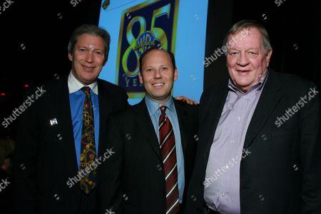 WHV's Jeff Baker & Ron Sanders with Director Richard Schickel