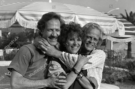 "Cannes Film Festival German actor Klaus Kinski, Italian actress Claudia Cardinale and German director Werner Herzog at the Cannes Film Festival for the presentation of German entry ""Fitzcarraldo&quot"
