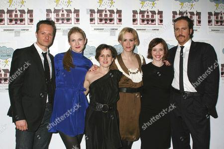 Chandler Williams, Lily Rabe, Jennifer Dundas, Sarah Paulson, Jessica Stone and Patch Darragh