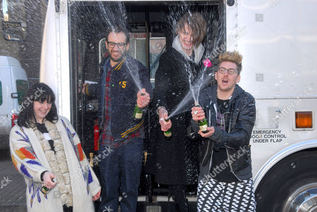 Fashion designers Louise Grey and Henry Holland, David Saunders and Gareth Pugh.