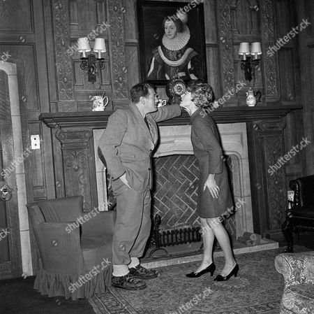 """Harwood Haddon Actors John Harwood and Carol Haddon appear at the Ambassador Theatre during a performance of mystery author Agatha Christie's """"The Mousetrap,"""", in London. The play is now in its 16th year"""