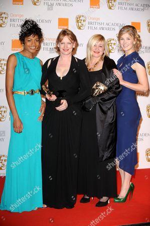 Naomie Harris, Sarah Greenwood, Katie Spencer and Rosamund Pike