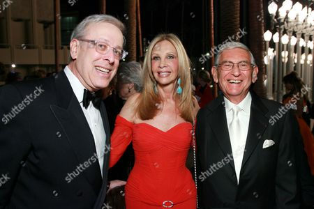Marc Nathanson, Jane Nathanson and Eli Broad