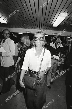 French actress Annie Girardot arrives at the Palais du Sport on