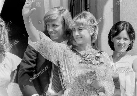 Bjorn Borg, Mariana Simionescu Swedish tennis ace Bjorn Borg and his Romanian bride Mariana Simionescu are all smiles from the balcony of the registry office at the municipal hall in Bucharest after their civil wedding ceremony on