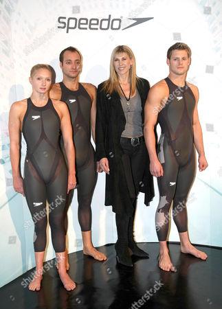 Caitlin McClatchey, James Goddard, Sharon Davies and Liam Tancock