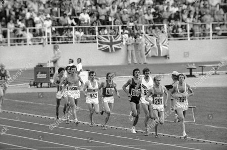 Brendan Foster British 5000 meter runner Brendan Foster (364) gets to a new Olympic record in 5000 meter heat in Montreal, Canada on . Behind him are Lasse Orimus, Finland (291), Rod Dixon, New Zealand (689), Knut Kvalheim, Norway (683), Enn Selik, USSR (901), Detlef Uhlemann, West Germany (443), Jacques Boxberger, France (309), and Markus Ryffel, Switzerland (805