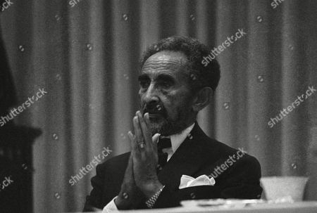 Editorial picture of Emperor Haile Selassie Speaking Pondering, New York, Xun