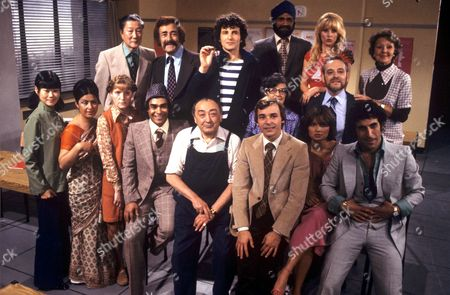 Barry Evans and the Cast of 'Mind Your Language'