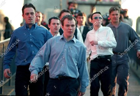 'The Murder of Stephen Lawrence' -  Suspects  Neil Acourt (Ricci Harnett) Jamie Acourt (Lee Colley) Luke Knight (Darren Morfitt) Gary Dobson (Neil Maskill) David Norris (Dominic Power)