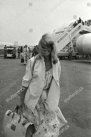 Fawcett-Majors Actress Farrah Fawcett-Majors arrives at Nice Airport to attend the 31st International Film Festival in Cannes, France