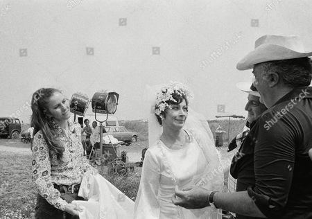 Editorial photo of Federico Fellini and Actress Magali Noel, Bologna, Italy