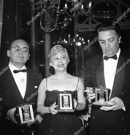 Editorial photo of Federico Fellini and Dina De Laurentiis, Rome, Italy