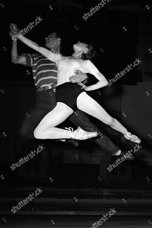 Moira Shearer and Roland Petit rehearsing Carmen at the Theatre Marigny in Paris, France around January 1960