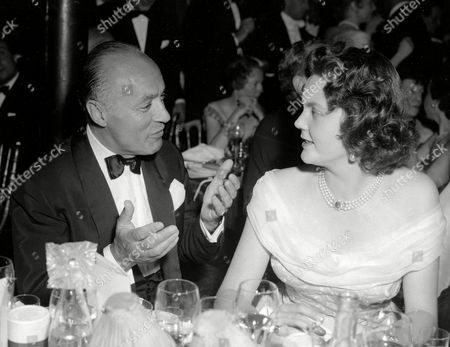 CHALES BOYER; PRINCESS MARIA PIA OF SAVOY French actor Charles Boyer talks to Princess Maria Pia of Savoy, wife of Prince Alexander of Yugoslavia. The two attend the 'Tout Paris' for 15, 000 French Francs per head charity Gala at the Maxim's in Paris . The proceeds will benefit the village of children of France