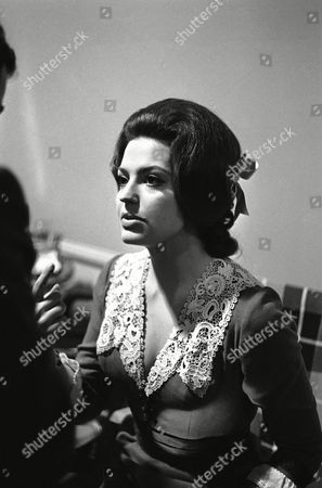 """Acting Princess Ira von Fuerstenberg on set of the film """"J'ai tue Raspoutine"""" (""""I Killed Rasputin"""") directed by Robert Hossein at the Studios Eclair in Epinay-sur-Seine, France on where she plays the role of Princess Irina Yusupov"""
