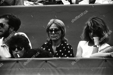 French actress Annie Girardot at the French Open tennis tournament at Roland Garros in Paris, France on