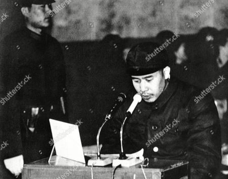 Chen Hongzhen Chen Hongzhen, former secretary of the air force's general office, testifies in Peking on during the trial of Wu Faxian, one of five senior military men accused of joining in a plot to assassinate Chairman Mao Tse-tung in 1971